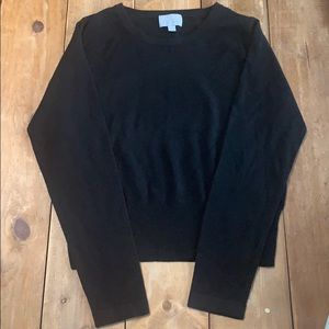 Pure Collection Black Cashmere Sweater Size 6